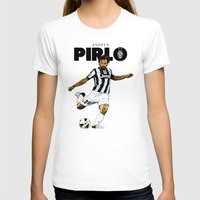 pirlo T-shirts featuring Andrea Pirlo by Rudi Gundersen