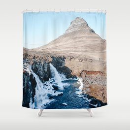 Waterfall in Iceland Shower Curtain