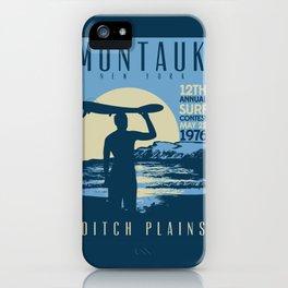 Montauk Ditch Plains Retro Vintage Surf iPhone Case