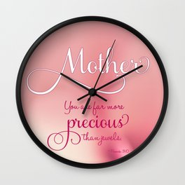A Rose For Mom Wall Clock