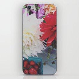 Dahlias on Vashon iPhone Skin