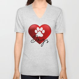 Love Dogs Unisex V-Neck