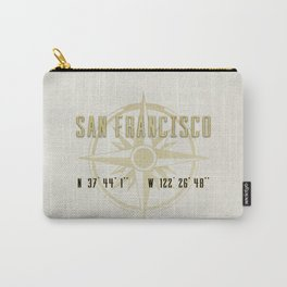 San Francisco - Vintage Map and Location Carry-All Pouch