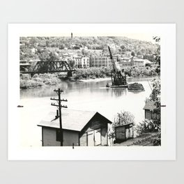 Deckers Creek Dredging Art Print