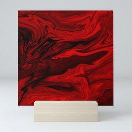 Blood Red Marble Mini Art Print
