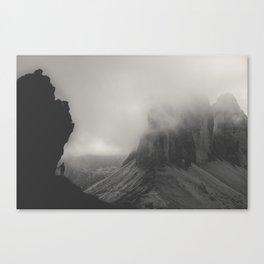 Tre Cime - BW Canvas Print