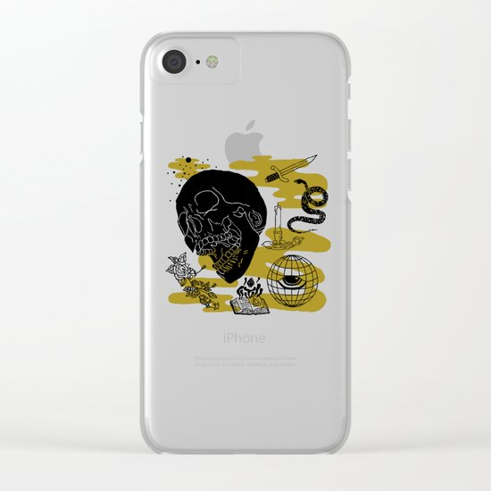 Planet Oblivion Clear iPhone Case