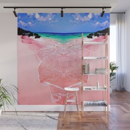 Elafonissi Chania Pink and Turquoise Sea Wall Mural