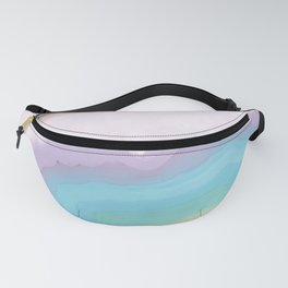 Rainbow Agate Slice Fanny Pack