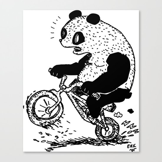 Dirt Jump Panda Canvas Print