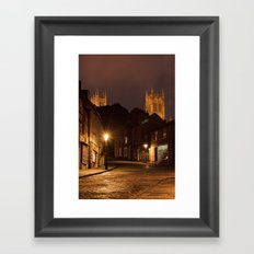 Lincoln Cathedral from Steep Hill Framed Art Print