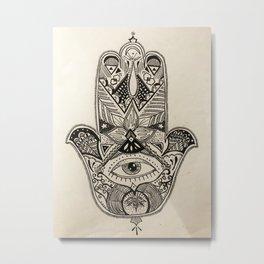 release hamsa Metal Print
