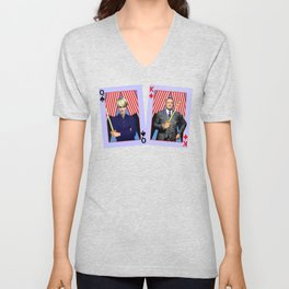 Frank and Claire - An Odd Pair Unisex V-Neck