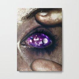 Ojos color galaxia Metal Print
