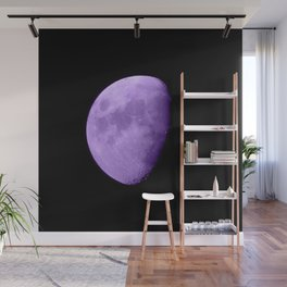 4K Dark Side of the Moon Violet Wall Mural