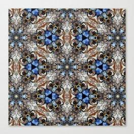 River Birch bark with blue sky kaleidoscope Canvas Print