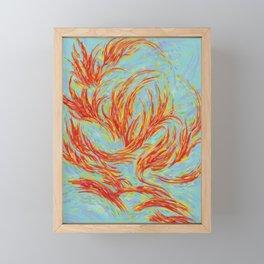Fires of Life Dancing Flames Framed Mini Art Print