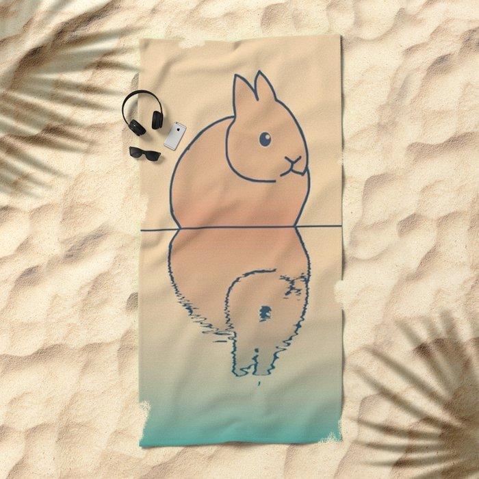 rabbit-74 Beach Towel