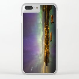 Aurora and the ISS Clear iPhone Case