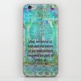 Ralph Waldo Emerson motivational quote iPhone Skin