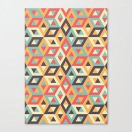 Pastel Geometric Pattern Canvas Print