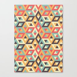 Pastel Geometric Pattern Canvas Print