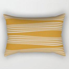 Wavy Stripes // Goldenrod Rectangular Pillow