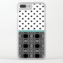 A combined decorative pattern . Clear iPhone Case