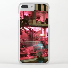 Pink Rhino Salon #UrbanArt #Photography #StreetScene Clear iPhone Case