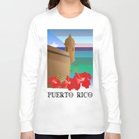 puerto rico Long Sleeve T-shirts featuring Puerto Rico by PADMA DESIGNS PR