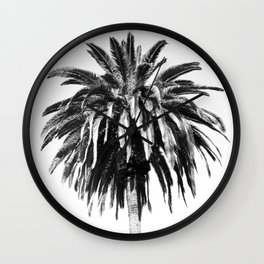 palm vintage black & white Wall Clock