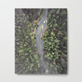 Yosemite National Park Valley And The Merced River Metal Print
