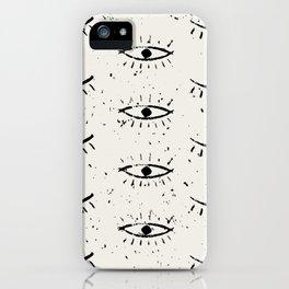 Vintage eyes hand drawn illustration pattern iPhone Case