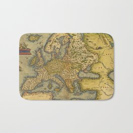 Vintage map of Europe Bath Mat