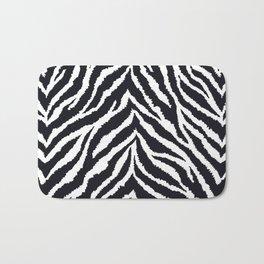 Zebra fur texture Bath Mat
