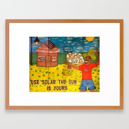 The Sun Is Yours Framed Art Print