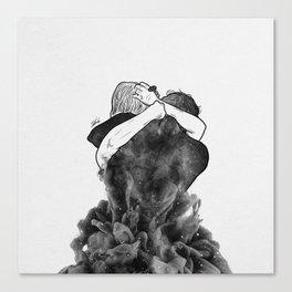 Impressive hug. Canvas Print
