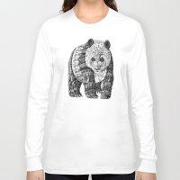 panda Long Sleeve T-shirts featuring Panda by BIOWORKZ