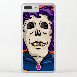 Candy Corn Ghoul Clear iPhone Case