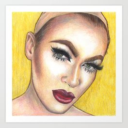 Golden Pearl Art Print