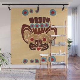 Mayan Baby Jaguar Folk Art Textile Wall Mural
