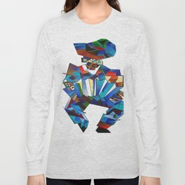Accordion Player In Cubist Style Long Sleeve T-shirt