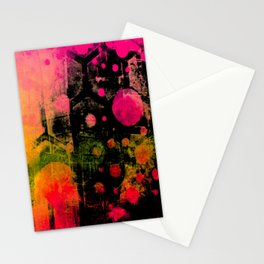 In a Pink and Black Mood Stationery Cards