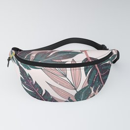 Galactic Tropical Leaves Fanny Pack