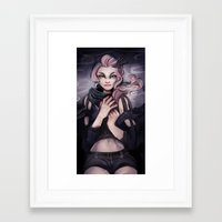 cyarin Framed Art Prints featuring Dark Shades by Cyarin