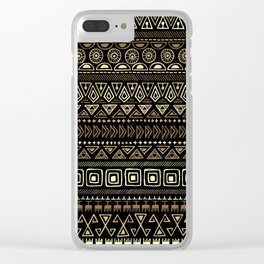 Ethnic tribal Pattern Clear iPhone Case