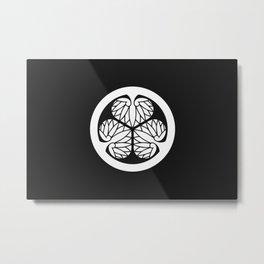 Tokugawa Clan · White Mon Metal Print