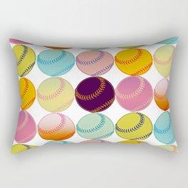 Pop Art Baseballs Rectangular Pillow