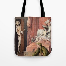 Hieronymus Bosch - Death and the Usurer Tote Bag