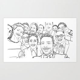 Oscar Selfie Art Print